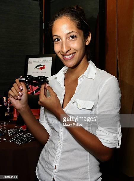 Actress Christel Khalil poses in the Daytime Emmy official gift lounge produced by On 3 Productions held at The Orpheum Theatre on August 30 2009 in...