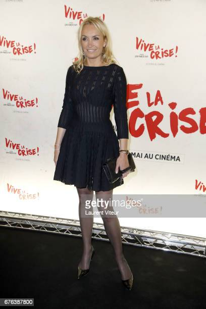 "Actress Christelle Bardet attends ""Vive La Crise"" Paris Premiere at Cinema Max Linder on May 2, 2017 in Paris, France."
