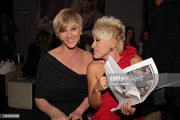Actress Christian Bach and singer Yuri attend the MercedesBenz Fashion Mexico Autumn Winter 2010 at Campo Marte on April 16 2010 in Mexico City Mexico