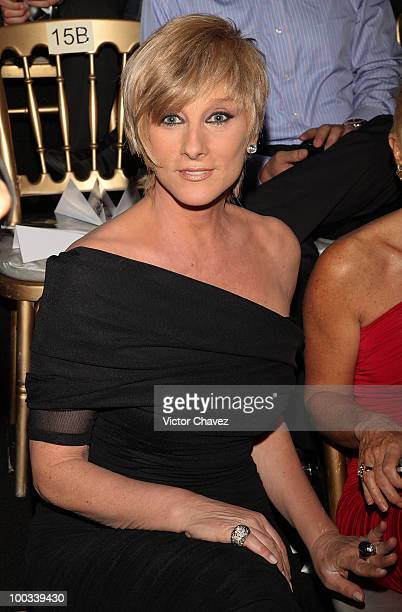 Actress Christian Bach attends the MercedesBenz Fashion Mexico Autumn Winter 2010 at Campo Marte on April 16 2010 in Mexico City Mexico