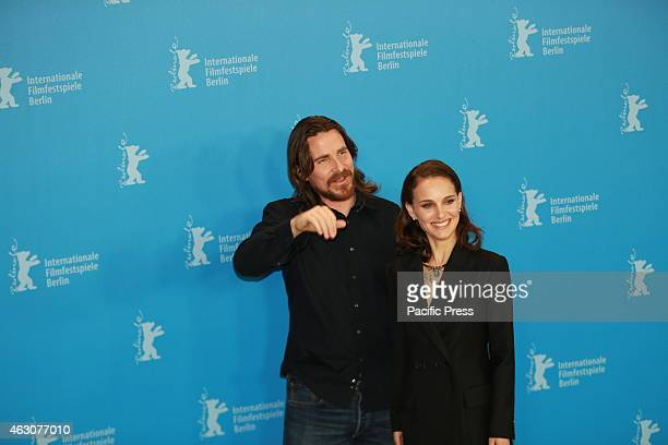 Actress Christian Bale and Natalie Portman at the photo call Photocall for the world premiere of Knight of Cups by Terrence Malick at the 65th Berlin...