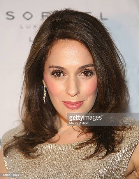Actress Christian DeRosa attends Yohan Blake AKA's private party hosted by Teammate Usain Bolt at Sofitel Hotel on November 1, 2012 in Los Angeles,...