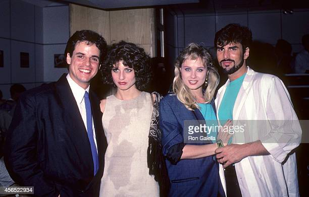 Actress Christian LeBlanc actress Tracy Kolis actress Kim Johnston Ulrich and actor Eddie Earl Hatch attend the party to celebrate Eileen Fulton's...