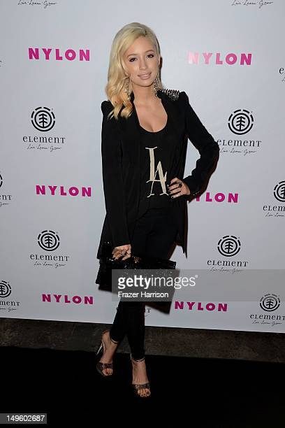 Actress Christian Serratos arrives at NYLON Magazine August Issue Launch Party hosted by Ashley Greene at Blok on July 31 2012 in Hollywood California