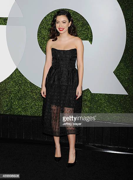 Actress Christian Serratos arrives at the 2014 GQ Men Of The Year Party at Chateau Marmont on December 4 2014 in Los Angeles California