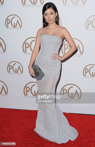 Actress Christian Serratos arrives at the 26th Annual PGA Awards at the Hyatt Regency Century Plaza on January 24 2015 in Los Angeles California
