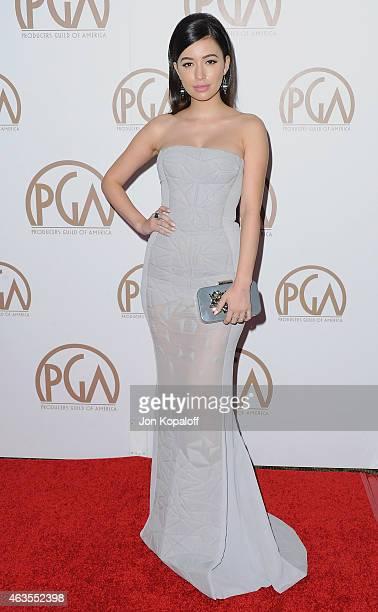 Actress Christian Serratos arrives at the 26th Annual PGA Awards at the Hyatt Regency Century Plaza on January 24 2015 in Los Angeles California