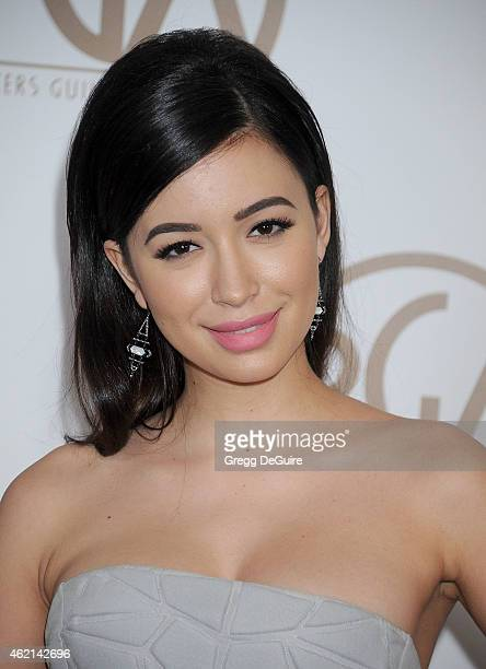 Actress Christian Serratos arrives at the 26th Annual Producers Guild Of America Awards at the Hyatt Regency Century Plaza on January 24 2015 in Los...