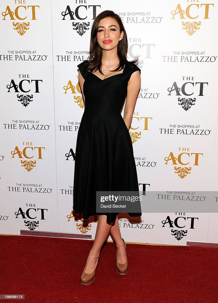 Actress Christian Serratos arrives at The Act at The Palazzo on December 19, 2012 in Las Vegas, Nevada.