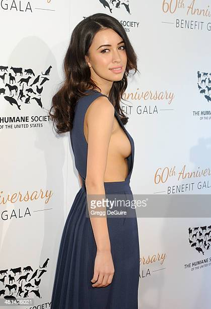 Actress Christian Serratos arrives at The Humane Society Of The United States 60th anniversary benefit gala at The Beverly Hilton Hotel on March 29...