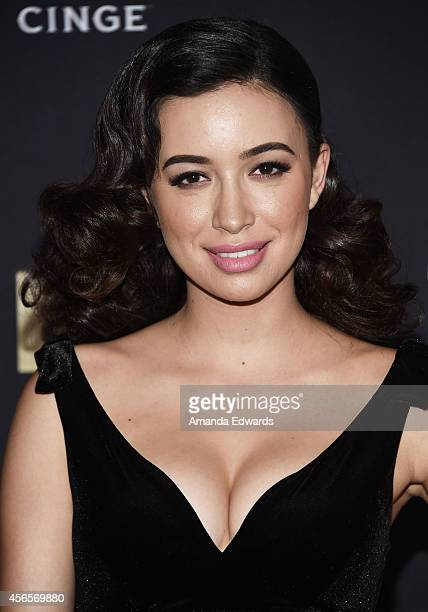 Actress Christian Serratos arrives at the Season 5 premiere of AMC's The Walking Dead at AMC Universal City Walk on October 2 2014 in Universal City...