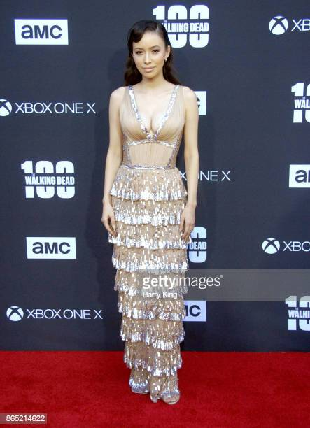 Actress Christian Serratos attends AMC Celebrates The 100th Episode of 'The Walking Dead' at The Greek Theatre on October 22 2017 in Los Angeles...