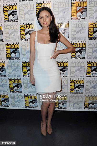 Actress Christian Serratos attends AMC's 'The Walking Dead' panel during ComicCon International 2016 at San Diego Convention Center on July 22 2016...