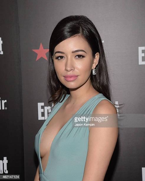 Actress Christian Serratos attends Entertainment Weekly's celebration honoring the 2015 SAG Awards nominees at Chateau Marmont on January 24 2015 in...