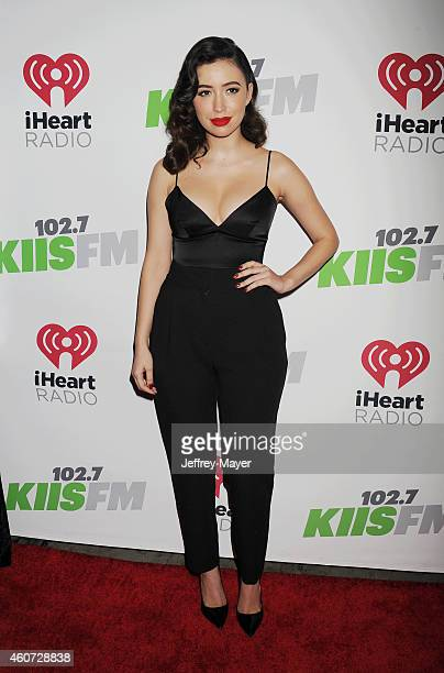 Actress Christian Serratos attends KIIS FM's Jingle Ball 2014 powered by LINE at Staples Center on December 5, 2014 in Los Angeles, California.
