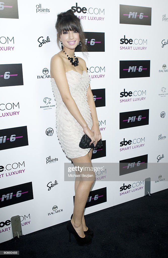 Actress Christian Serratos attends SBE's Mi-6 Nightclub Opening on September 15, 2009 in West Hollywood, United States.