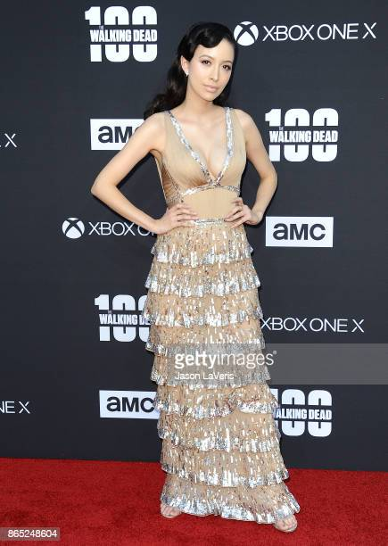 Actress Christian Serratos attends the 100th episode celebration off 'The Walking Dead' at The Greek Theatre on October 22 2017 in Los Angeles...