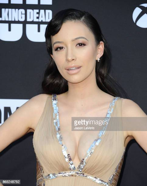 Actress Christian Serratos attends the 100th episode celebration off The Walking Dead at The Greek Theatre on October 22 2017 in Los Angeles...