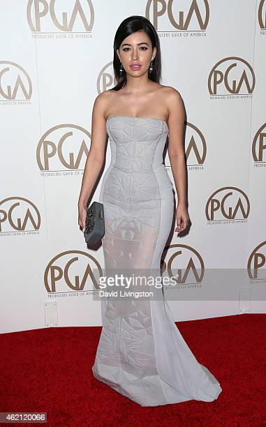 Actress Christian Serratos attends the 26th Annual Producers Guild of America Awards at the Hyatt Regency Century Plaza on January 24 2015 in Los...
