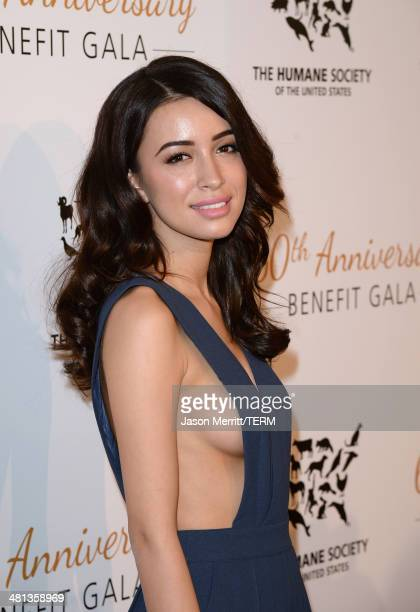 Actress Christian Serratos attends the Humane Society of The United States 60th Anniversary Gala at The Beverly Hilton Hotel on March 29 2014 in...