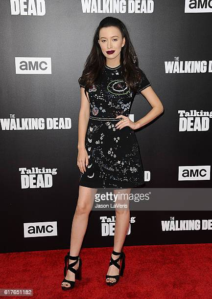 Actress Christian Serratos attends the live 90minute special edition of 'Talking Dead' at Hollywood Forever on October 23 2016 in Hollywood California