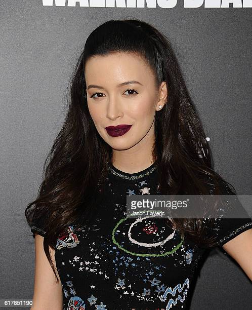 Actress Christian Serratos attends the live 90minute special edition of Talking Dead at Hollywood Forever on October 23 2016 in Hollywood California
