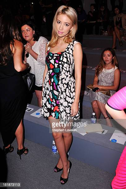 Actress Christian Serratos attends the Nanette Lepore Spring 2013 fashion show during MercedesBenz Fashion Week at The Stage Lincoln Center on...