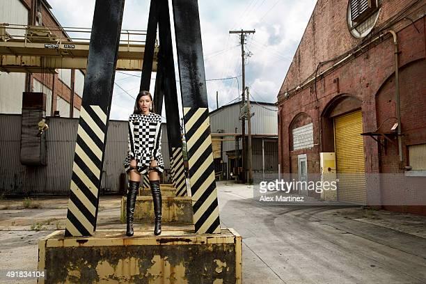 Actress Christian Serratos is photographed for Atlanta Magazine on July 25 2015 in Atlanta Georgia PUBLISHED IMAGE