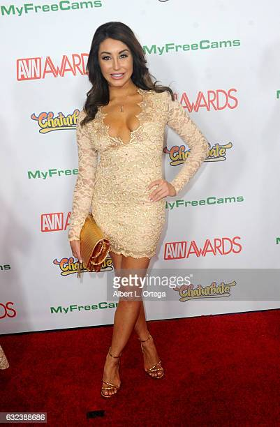 Actress Christiana Cinn arrives at the 2017 Adult Video News Awards held at the Hard Rock Hotel Casino on January 21 2017 in Las Vegas Nevada