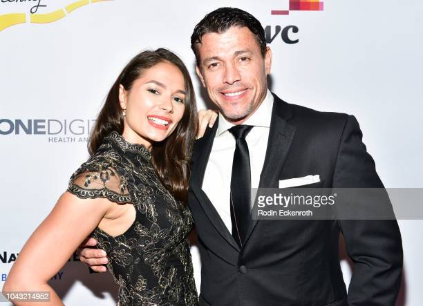 Actress Christiana Leucas and actor Al Coronel attend the 18th Annual Voices of Our Children Fundraiser Gala and Awards at Loews Hollywood Hotel on...