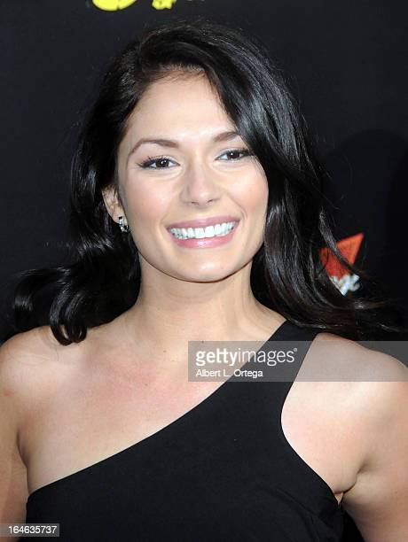 Actress Christiana Leucas arrives for The Los Angeles Premiere of The Last Stand held at Grauman's Chinese Theater on January 14 2013 in Hollywood...
