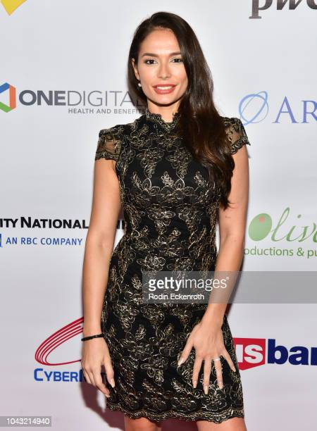 Actress Christiana Leucas attends the 18th Annual Voices of Our Children Fundraiser Gala and Awards at Loews Hollywood Hotel on September 29 2018 in...