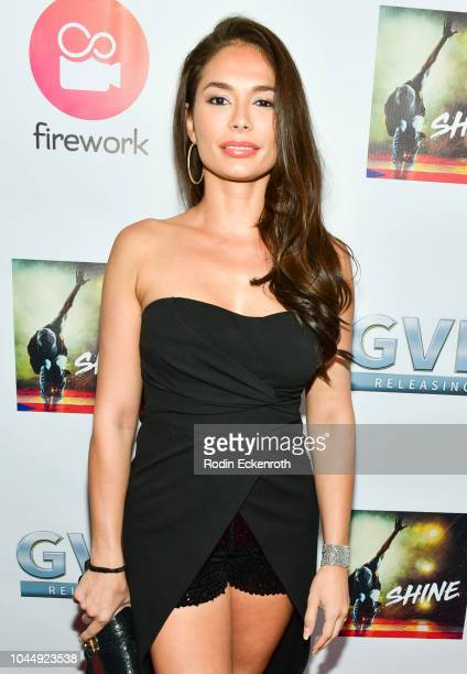 Actress Christiana Leucas attends the premiere of GVN Releasing's Shine at Harmony Gold on October 2 2018 in Los Angeles California