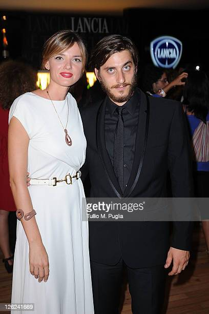Actress Christiane Filangieri and actor Luca Marinelli attends the Fandango Party at Lancia Cafe on September 8 2011 in Venice Italy