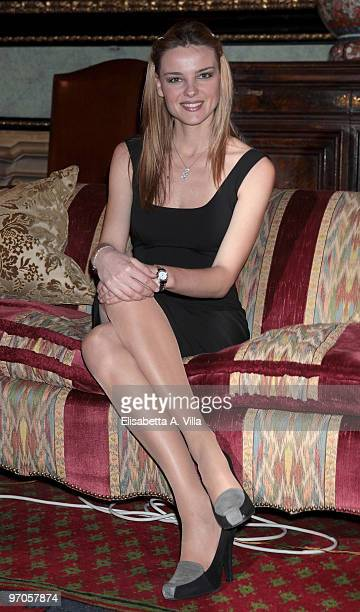 Actress Christiane Filangieri attends Sissi photocall at Palazzo Taverna on February 25 2010 in Rome Italy