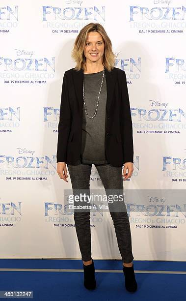 Actress Christiane Filangieri attends the 'Frozen' Rome Premiere at Cinema Adriano on December 2 2013 in Rome Italy