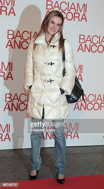 Actress Christiane Filangieri attends the premiere of 'Baciami Ancora' at Auditorium Conciliazione on January 28 2010 in Rome Italy