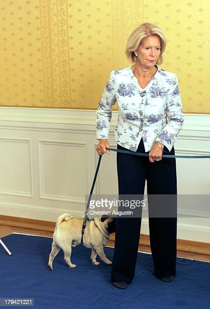 Actress Christiane Hoerbiger attends a photocall for her 75th birthday at Hotel Atlantic on September 2 2013 in Hamburg Germany