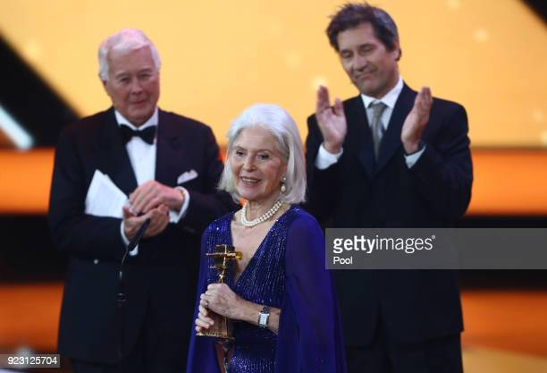 Actress Christiane Hörbiger during the show of Goldene Kamera 2018 at Messehallen on February 22 2018 in Hamburg Germany