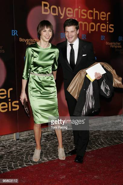 Actress Christiane Paul and producer Benjamin Herrmann attend the Bavarian Movie Award at Prinzregententheater on January 15 2010 in Munich Germany