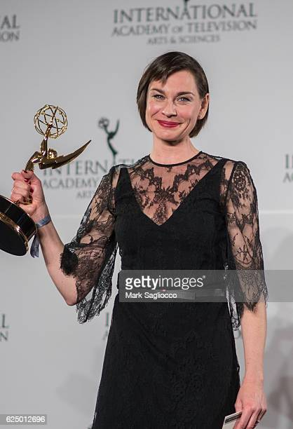 Actress Christiane Paul attends the 2016 International Emmy Awards at the New York Hilton on November 21 2016 in New York City