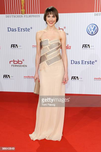Actress Christiane Paul attends the 'German film award 2010' at Friedrichstadtpalast on April 23, 2010 in Berlin, Germany.