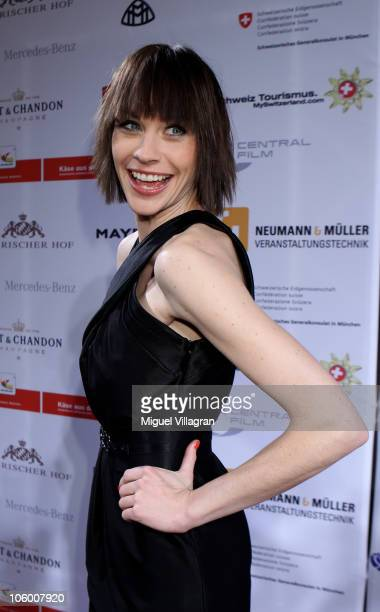 Actress Christiane Paul attends the premiere of the film 'Der Grosse Kater' at Bavarian parliament on October 25 2010 in Munich Germany