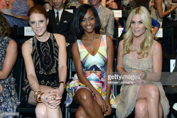 Actress Christiane Seidel and Tinsley Mortimer attend the Nicole Miller Spring 2014 fashion show during MercedesBenz Fashion Week at The Studio at...