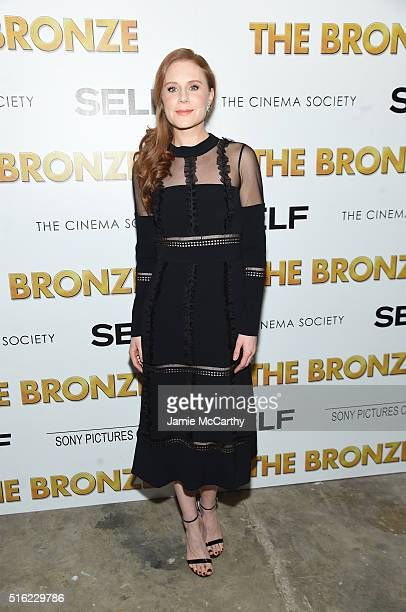 Actress Christiane Seidel attends a screening of Sony Pictures Classics' The Bronze hosted by Cinema Society SELF at Metrograph on March 17 2016 in...