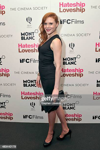Actress Christiane Seidel attends IFC Films' Hateship Loveship screening hosted by The Cinema Society and Montblanc at the Museum of Modern Art on...