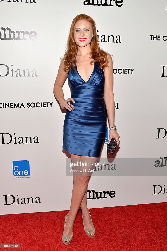 Actress Christiane Seidel attends the screening of Entertainment One's 'Diana' hosted by The Cinema Society With Linda Wells and Allure Magazine at SVA Theater on October 30, 2013 in New York City.