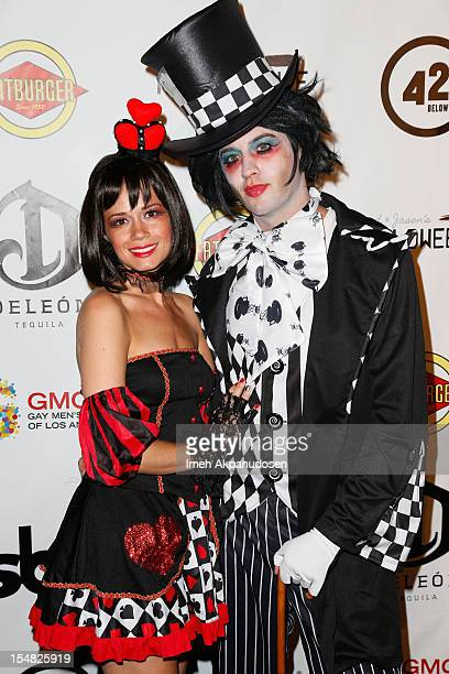 Actress Christie Burson and actor Johnny Pacar attend Fred Jason's Annual Halloweenie Celebrity Charity Event on October 26 2012 in Los Angeles...