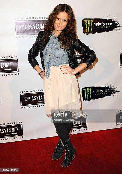 Actress Christie Burson arrives for Asylum 15th Anniversary Party And Red Carpet held at Pacific Park at the Santa Monica Pier on November 5 2012 in...