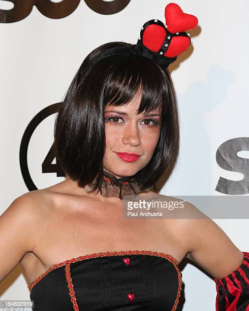 Actress Christie Burson attends Fred Jason's annual Halloweenie charity event at The Lot on October 26 2012 in West Hollywood California